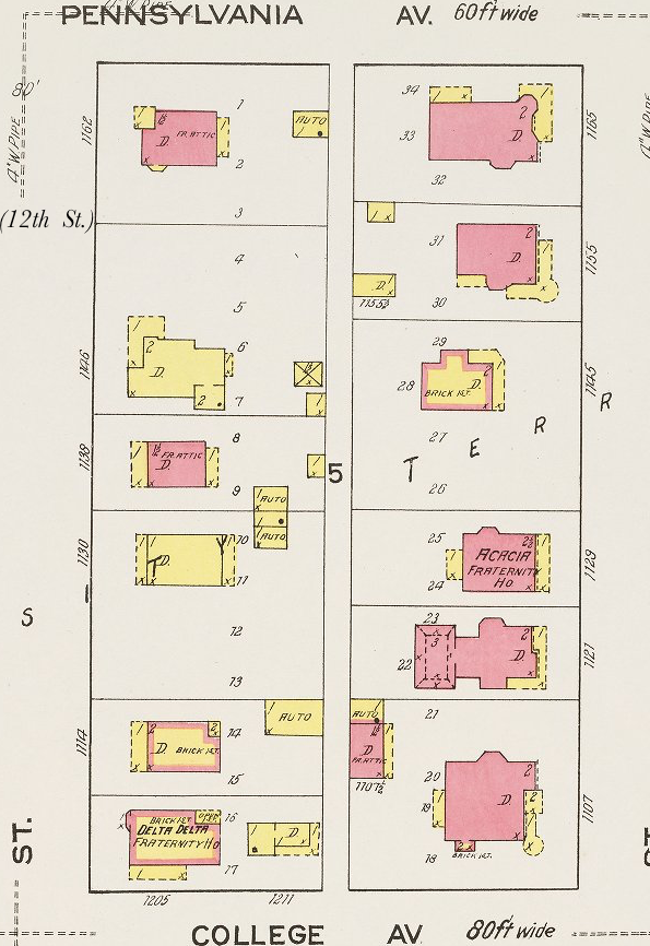 Sanborn map showing building type